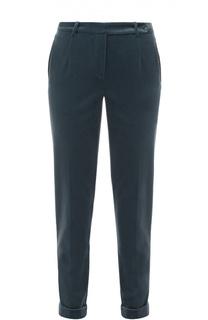 Бархатные брюки прямого кроя с отворотами Loro Piana