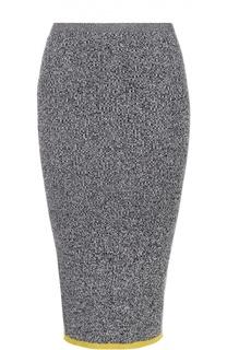 Вязаная юбка-карандаш с контрастной отделкой подола MRZ