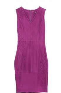Облегающее замшевое платье со шнуровкой Elie Tahari