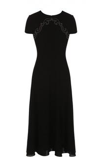 Вязаное платье-миди с контрастной отделкой Ralph Lauren