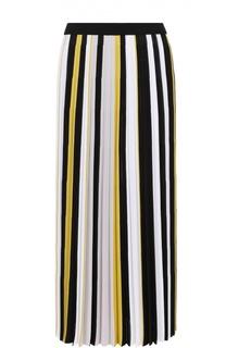 Плиссированная юбка-макси в контрастную полоску MRZ