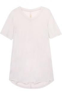 Удлиненная футболка прямого кроя с круглым вырезом Raquel Allegra