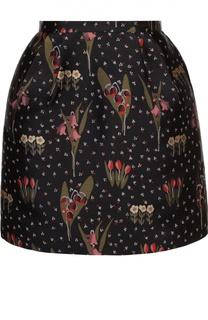 Короткая юбка-тюльпан с контрастным принтом REDVALENTINO