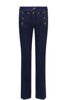 Расклешенные джинсы с контрастными пуговицами Michael Kors