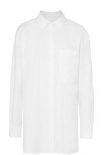 Удлиненная блуза свободного кроя с накладным карманом DKNY