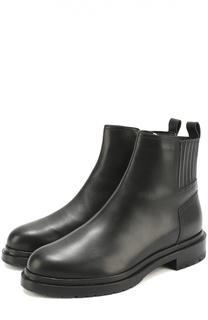 Кожаные ботинки на низком каблуке Sergio Rossi