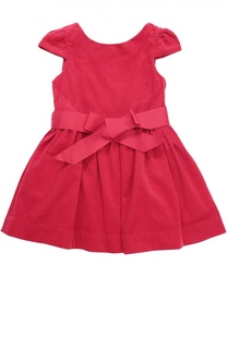 Платье из вельвета с пышной юбкой и поясом Polo Ralph Lauren