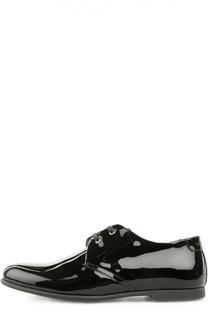 Лаковые туфли с тиснением на заднике Dolce & Gabbana