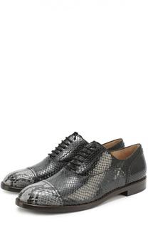 Кожаные ботинки с тиснением Marc Jacobs