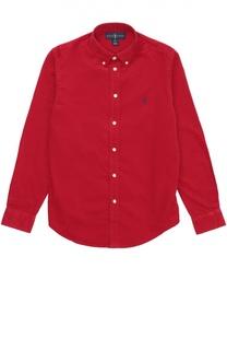 Рубашка из вельвета с воротником button down Polo Ralph Lauren