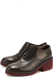 Кожаные ботинки на массивном каблуке Vic