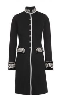 Удлиненный приталенный жакет в военным стиле с контрастной вышивкой Denim&Supply by Ralph Lauren