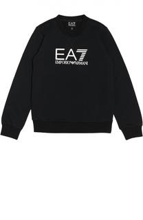 Хлопковый свитшот с надписью Ea 7