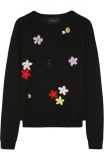 Пуловер с круглым вырезом и цветочной вышивкой Simone Rocha