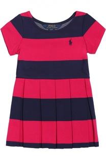 Платье с короткими рукавами и плиссированной юбкой Polo Ralph Lauren