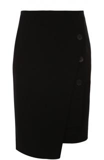 Облегающая мини-юбка асимметричного кроя DKNY