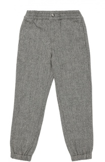 Шерстяные брюки с поясом и манжетами на резинке Polo Ralph Lauren