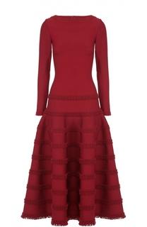 Приталенное платье-макси с пышной юбкой Alaia