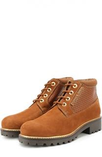 Комбинированные ботинки с перфорацией Armani Jeans