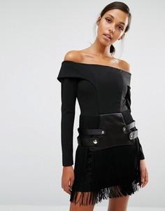 Платье Asilio Mixed Metal - Черный