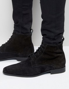 Замшевые ботинки на шнуровке Zign - Черный