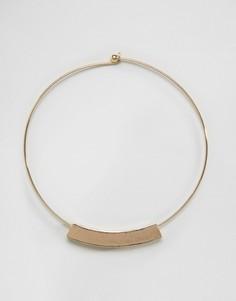 Ожерелье-воротник с планкой Nylon - Золотой