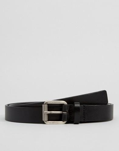 Черный узкий кожаный ремень Royal RepubliQ - Черный