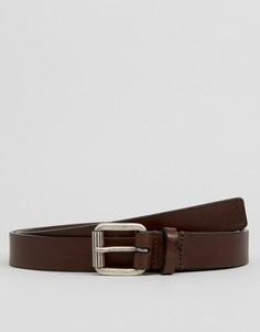 Узкий кожаный ремень Royal RepubliQ - Коричневый