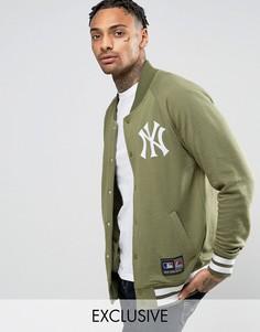 Флисовая университетская куртка Majestic Yankees эксклюзивно для ASOS - Зеленый