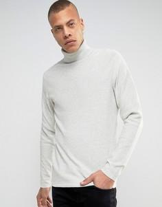 Джемпер из 100% хлопка с отворачивающимся воротом Produkt - Белый