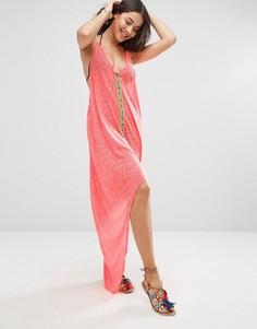 Платье с асимметричным подолом Pitusa Eye - Розовый