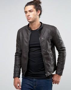 Байкерская куртка из искусственной кожи Barneys - Коричневый Barneys Originals
