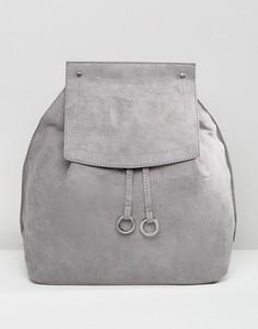 Рюкзак из искусственной замши Missguided - Серый