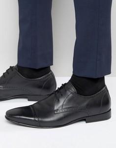 Черные оксфордские туфли со вставкой на носке Frank Wright - Черный