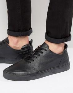 Кожаные кроссовки Zign - Черный
