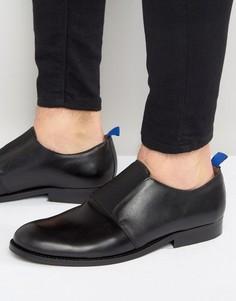 Кожаные туфли с эластичным ремешком Zign - Черный