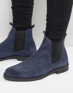 Замшевые ботинки челси Zign - Темно-синий