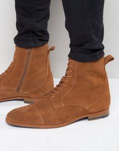 Замшевые ботинки на шнуровке Zign - Рыжий