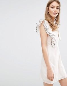 Платье мини с оборками Keepsake Remind Me - Розовый