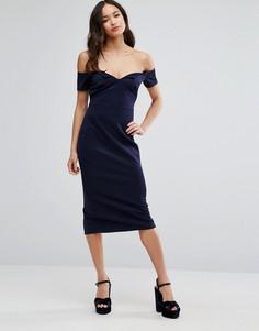 Платье-футляр миди Club L Office - Темно-синий