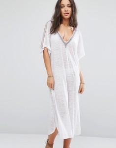 Платье с V-образным вырезом на спине Pitusa - Белый