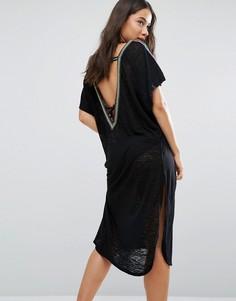 Платье с V-образным вырезом на спине Pitusa - Черный