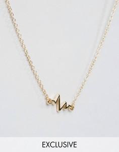 Золотистое ожерелье с подвеской DesignB - Золотой