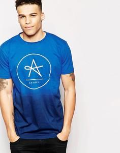 Удлиненная футболка с эффектом деграде Antioch - Синий