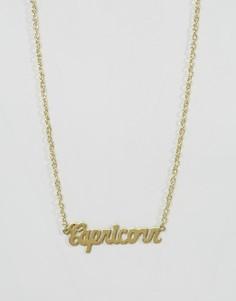 Ожерелье со знаком зодиака Козерог Rock N Rose - Золотой