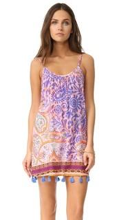 Пляжное платье с узором «павлиний глаз» Bindya