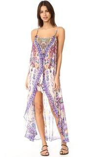 Мини-платье с длинным накладным элементом Camilla
