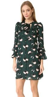 Платье с оборками рукавами Derek Lam 10 Crosby