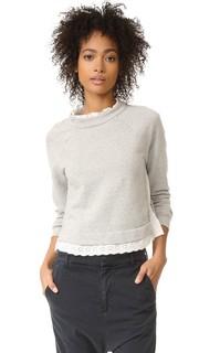 Пуловер с длинными рукавами французского махрового трикотажа La Vie Rebecca Taylor