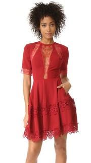 Мини-платье с короткими рукавами крепа Nicholas